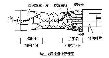 旋进旋涡流量计原理图